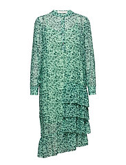 Louisa gia frill dress - AQUA