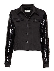Abbey sequin jacket - BLACK