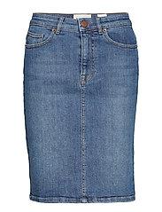 Emily denim skirt wash dark Bogota - DENIM BLUE