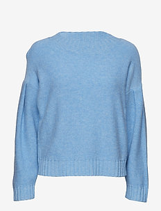 Vicky drop shoulder knit - PALACE BLUE