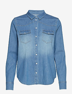 Stacy shirt - DENIM BLUE