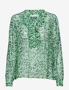 Louisa gia frill shirt - AQUA