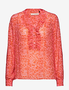 Louisa gia frill shirt - SOFT CANDY