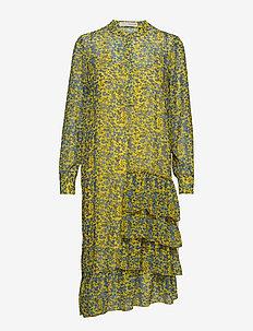 Louisa gia frill dress - PALE YELLOW