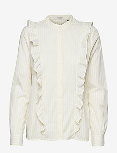 Gilly frill shirt - PALE YELLOW
