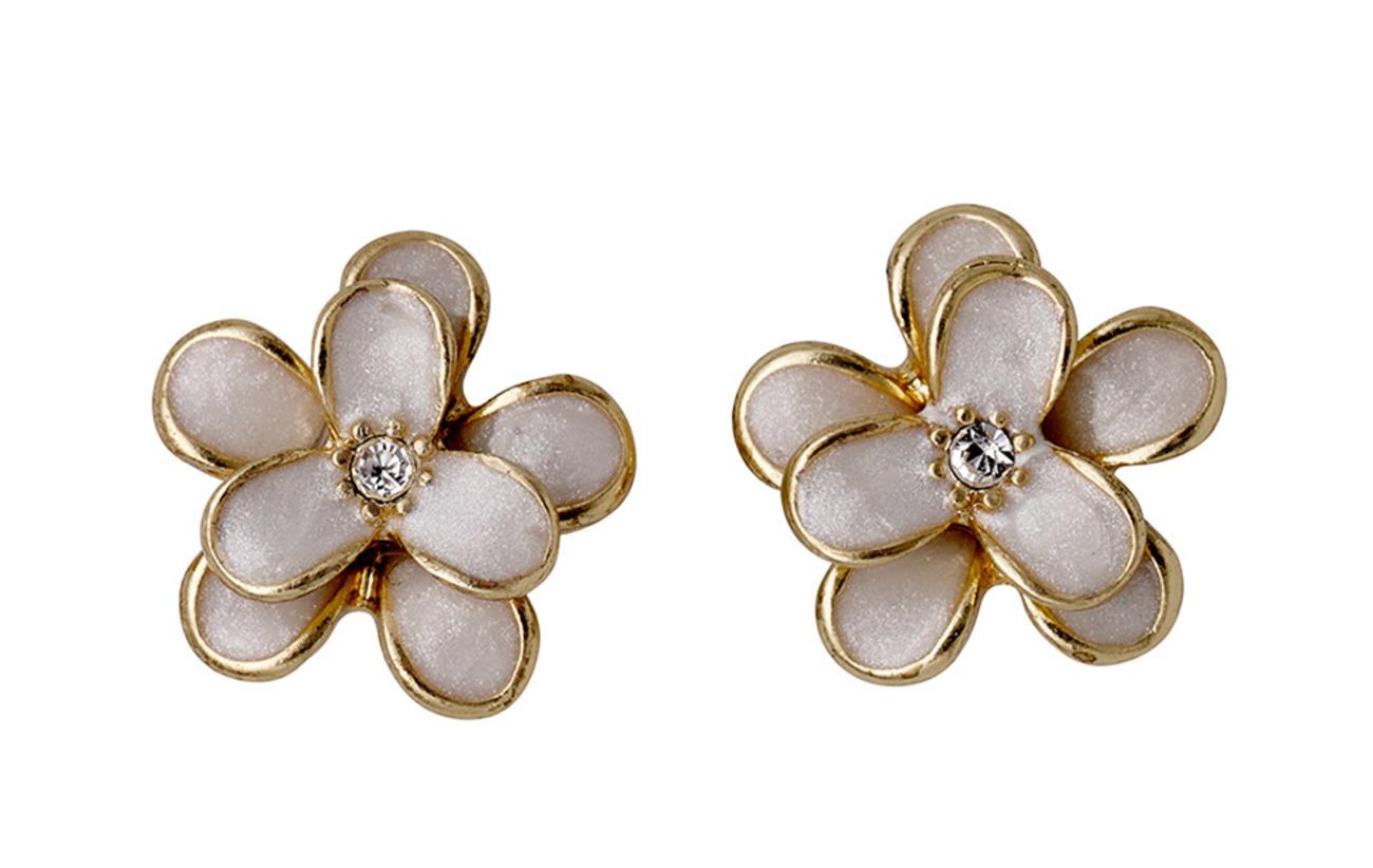 Pilgrim Earrings - GOLD/WHITE