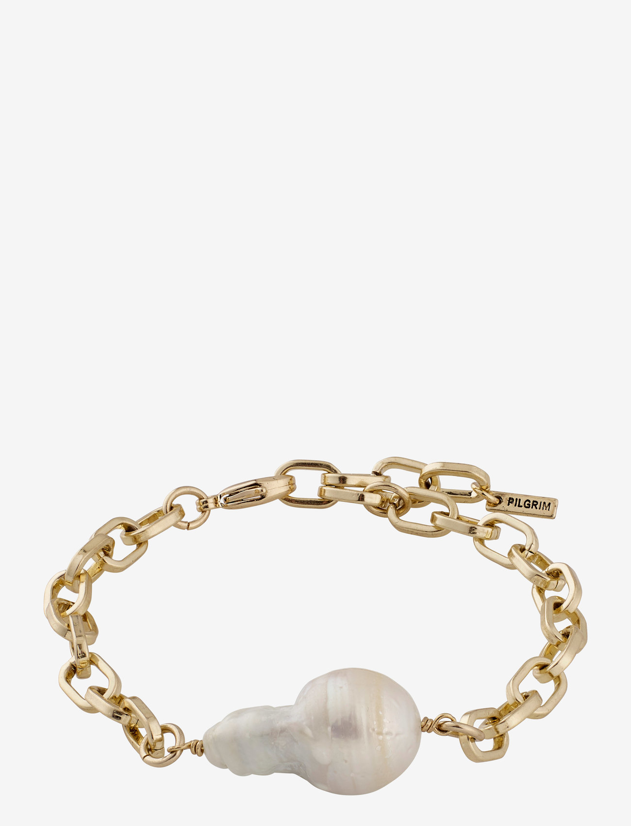 Pilgrim - Bracelet Gracefulness White - dainty - gold plated - 0