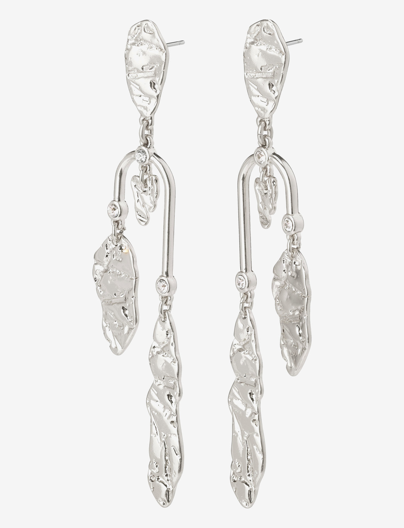 Pilgrim - Earrings Tolerance Crystal - oorhangers - silver plated - 0