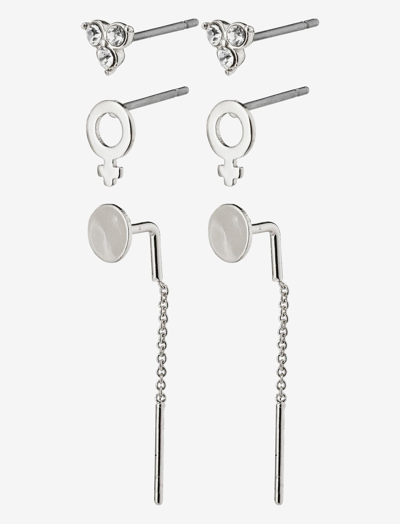 Pilgrim - Earrings Malak Crystal - stud oorbellen - silver plated - 0