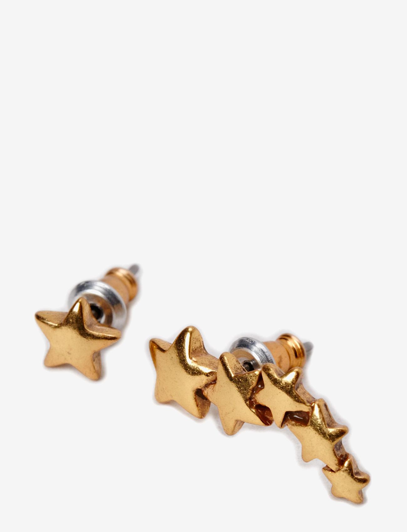 Pilgrim - Pilgrim Earring Classic - nappikorvakorut - gold - 0
