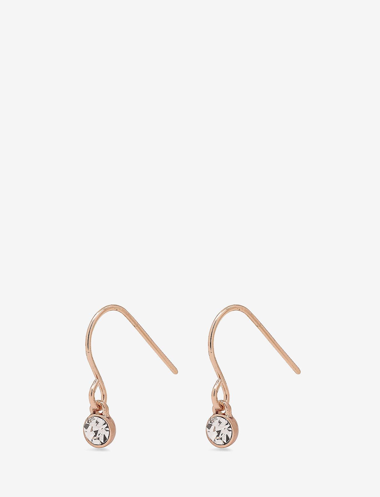 Pilgrim - Lucia - hängande örhängen - rose gold plated - 0