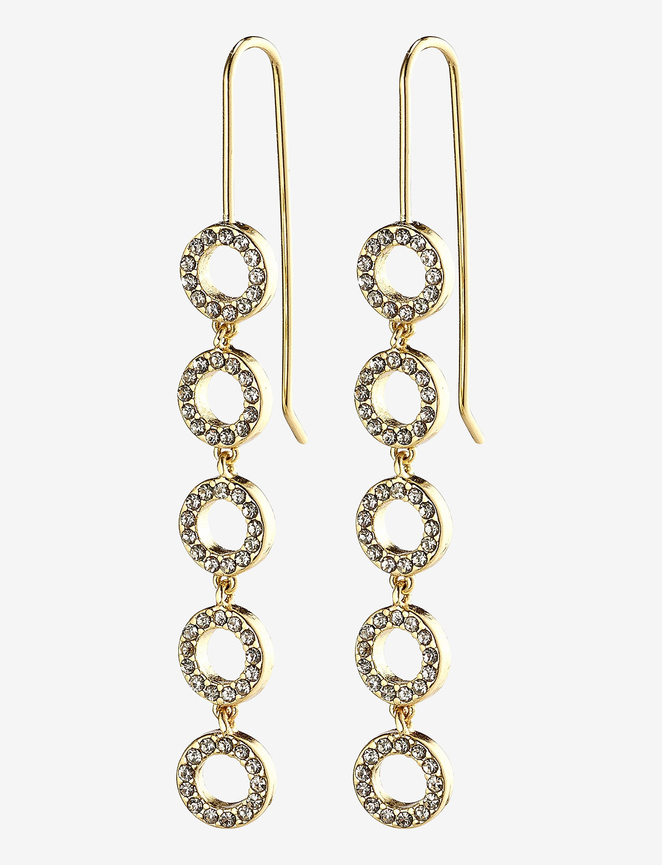 Pilgrim - Earrings : Tessa : Gold Plated : Crystal - statement earrings - gold plated - 0
