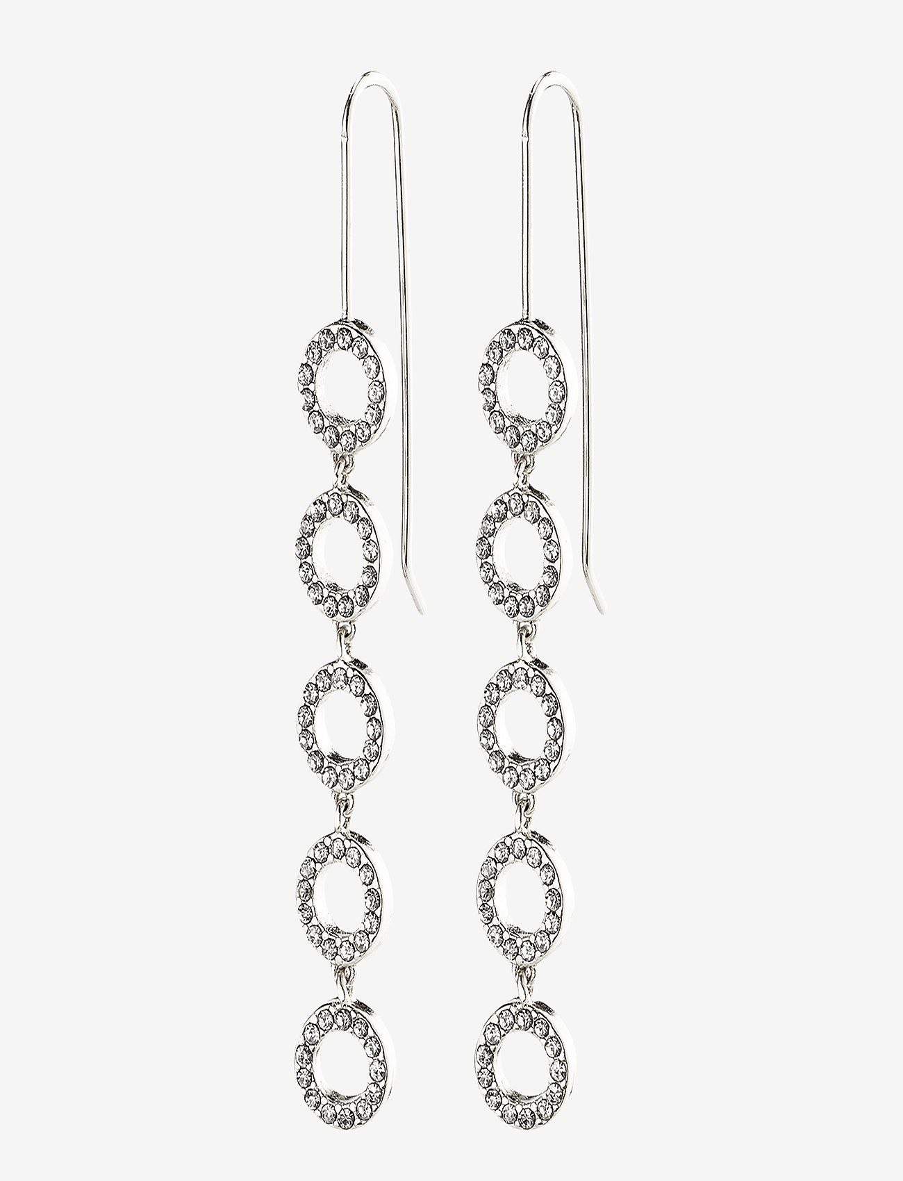 Pilgrim - Earrings : Tessa : Silver Plated : Crystal - statement earrings - silver plated - 0
