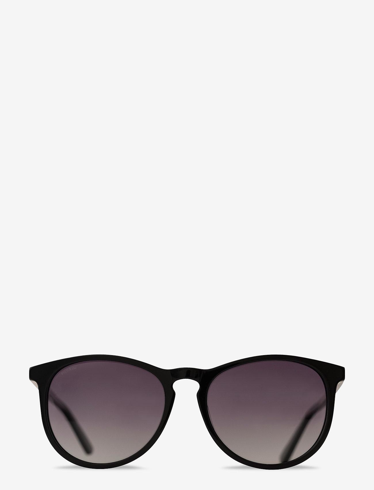 Pilgrim - Sunglasses Sahara - rond model - black - 1