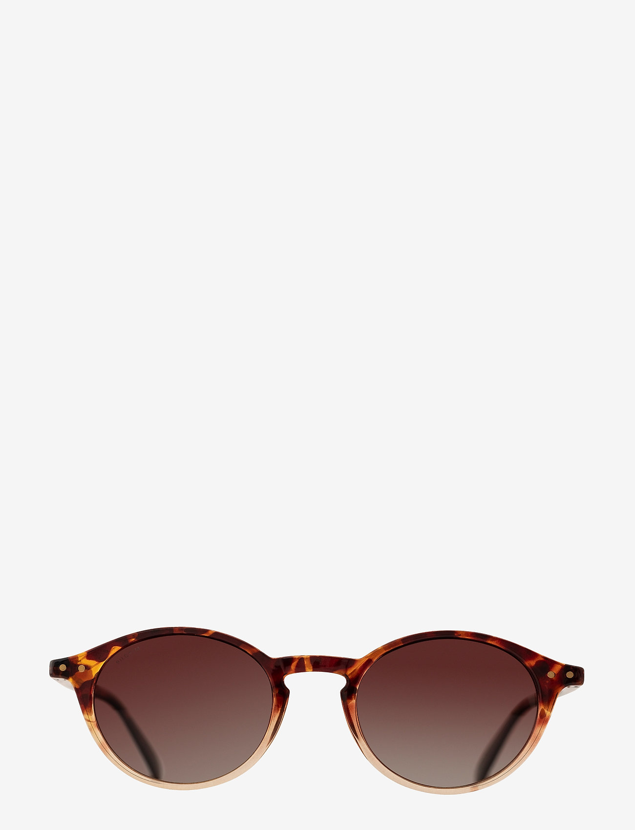 Pilgrim - Sunglasses Roxanne - rond model - brown - 1