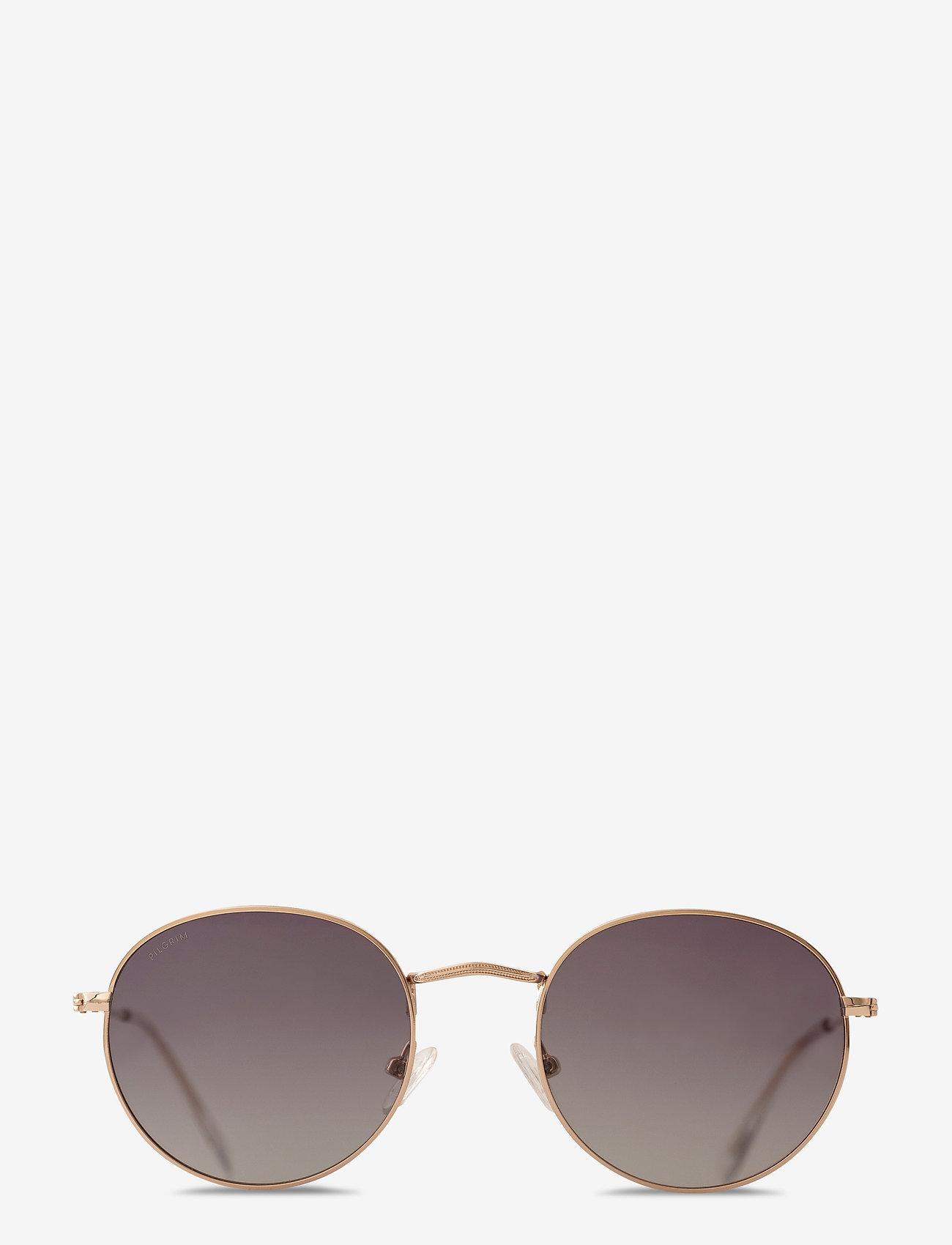 Pilgrim - Sunglasses Pine - rond model - grey - 1