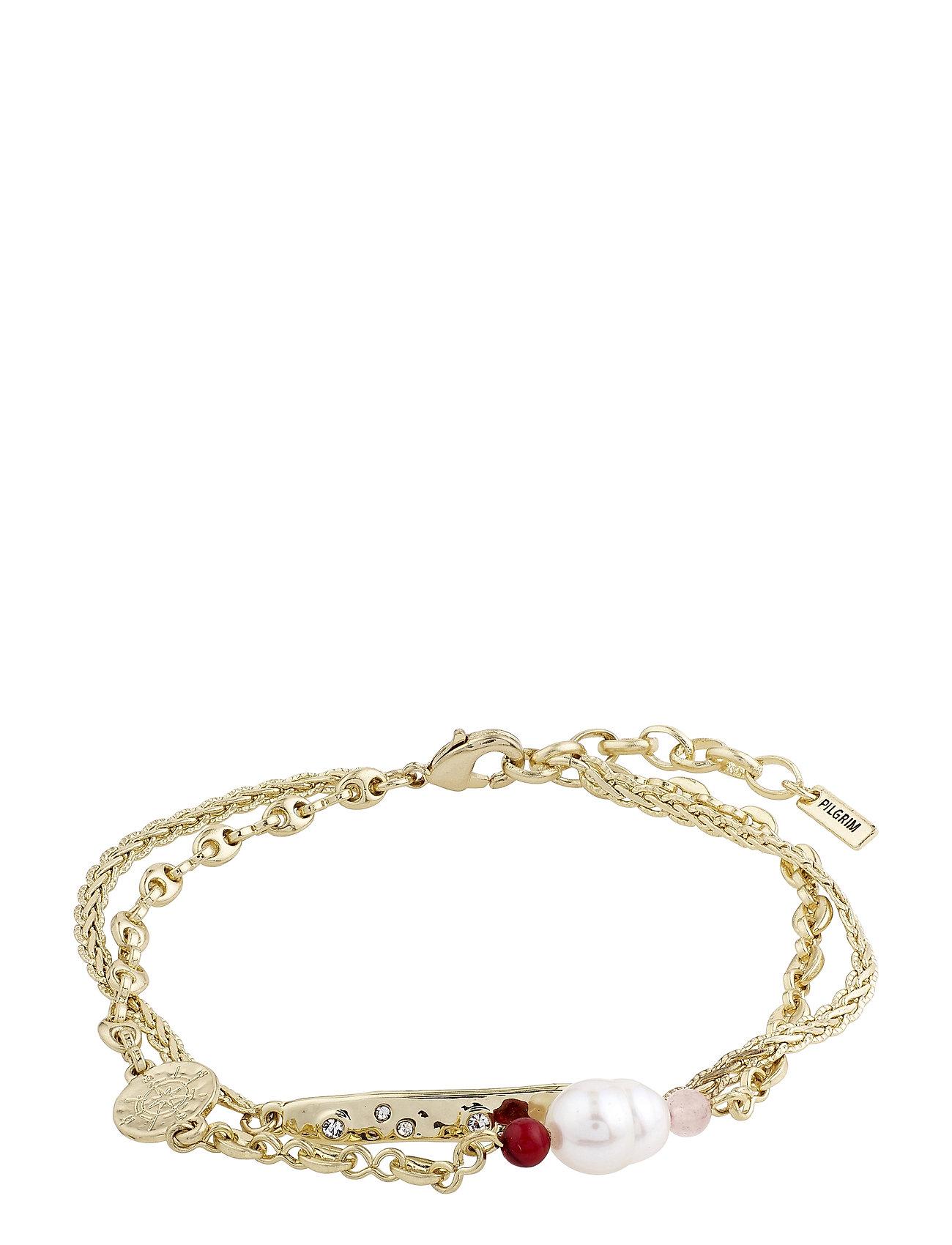 Bracelet Poesy Gold Plated Multi Accessories Jewellery Bracelets Chain Bracelets Guld Pilgrim