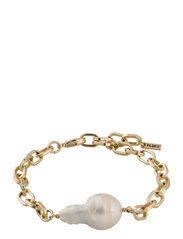Bracelet Gracefulness White - GOLD PLATED