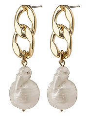 Earrings Gracefulness White - GOLD PLATED