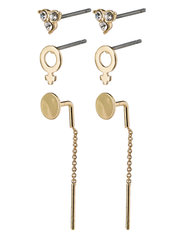 Earrings Malak Crystal - GOLD PLATED