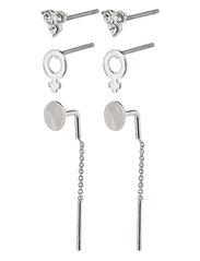 Earrings Malak Crystal - SILVER PLATED