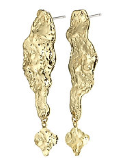 Earrings Benicia Gold Plated White - GOLD PLATED
