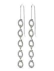 Earrings : Tessa : Silver Plated : Crystal - SILVER PLATED