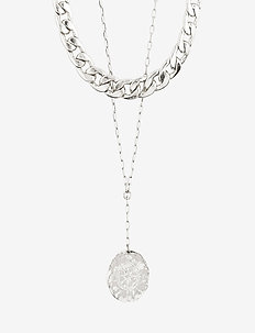 Necklace Compass Silver Plated - statementhalsband - silver plated
