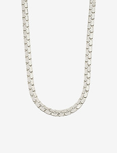 Beauty - statement necklaces - silver plated