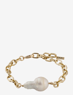 Bracelet Gracefulness White - dainty - gold plated