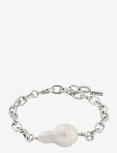 Bracelet Gracefulness White - dainty - silver plated