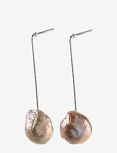 Water - oorhangers - silver plated