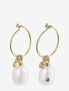 Love - hoops - gold plated