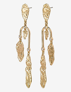 Earrings Tolerance Crystal - pendant - gold plated