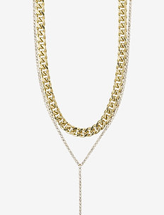 Necklace Radiance Crystal - dainty necklaces - gold plated