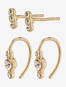 Earrings Radiance Crystal - goujons - gold plated