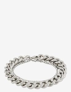 Bracelet Radiance Crystal - dainty - silver plated