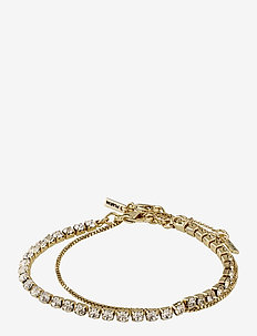 Bracelet Compassion Crystal - dainty - gold plated