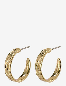 Earrings Compassion - cerceaux - gold plated