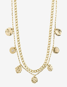 Necklace Poesy Gold Plated Crystal - kettingen  - gold plated