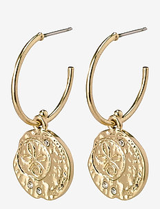 Earrings Warmth Crystal - cerceaux - gold plated