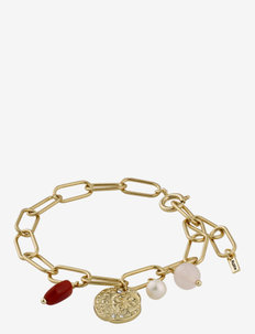 Bracelet Warmth Brown - dainty - gold plated