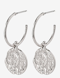 Earrings Warmth Crystal - cerceaux - silver plated