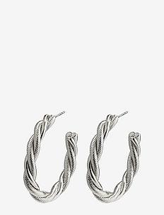 Baya - hoops - silver plated