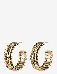 Earrings Tasha - hoops - gold plated