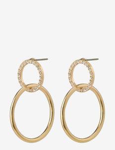 Earrings Garcelle Crystal - pendant - gold plated