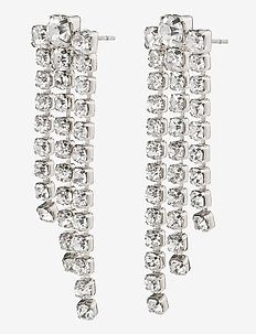 Earrings Petra Crystal - pendant - silver plated