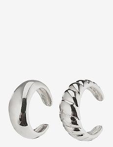 Earrings Helga Silver Plated - ear cuffs - silver plated