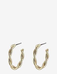 Naja - hoops - gold plated