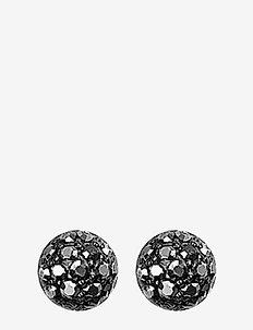 Mai - stud earrings - hematite color